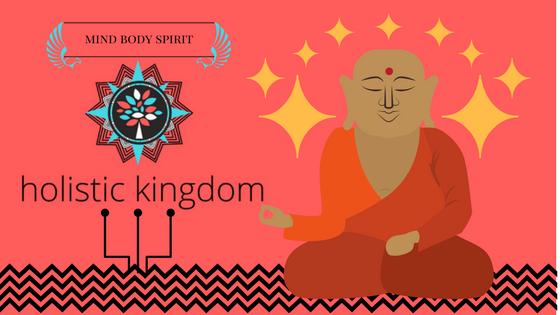 holistic kingdom mandala logo sitting buddha meditator