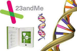 23 and Me DNA testing kit