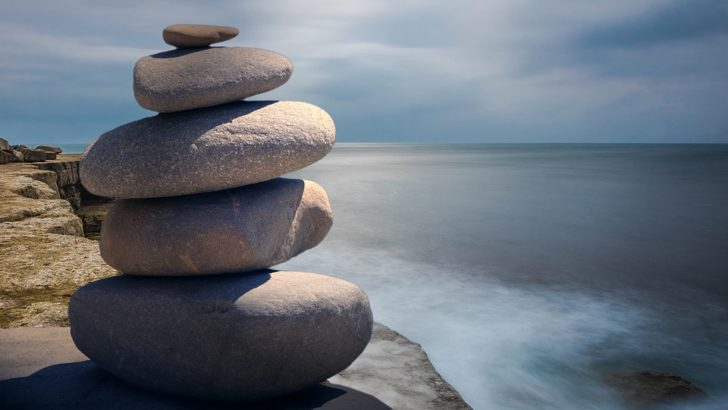 spiritual wellness zen balance rocks ocean beach