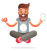 meditation technology icon