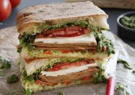 tofurky focaccia sandwich