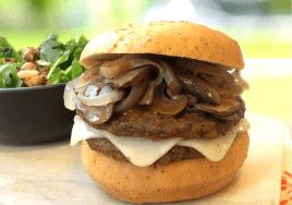yves vegan mushroom cheeseburger