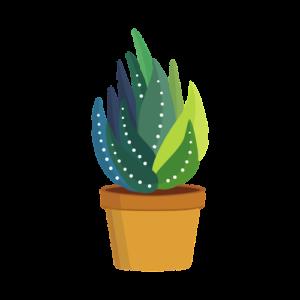 potted aloe vera plant icon