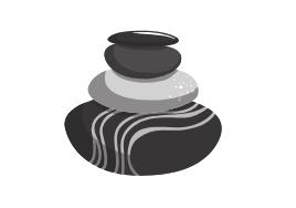 stacked meditation rocks balanced cairn