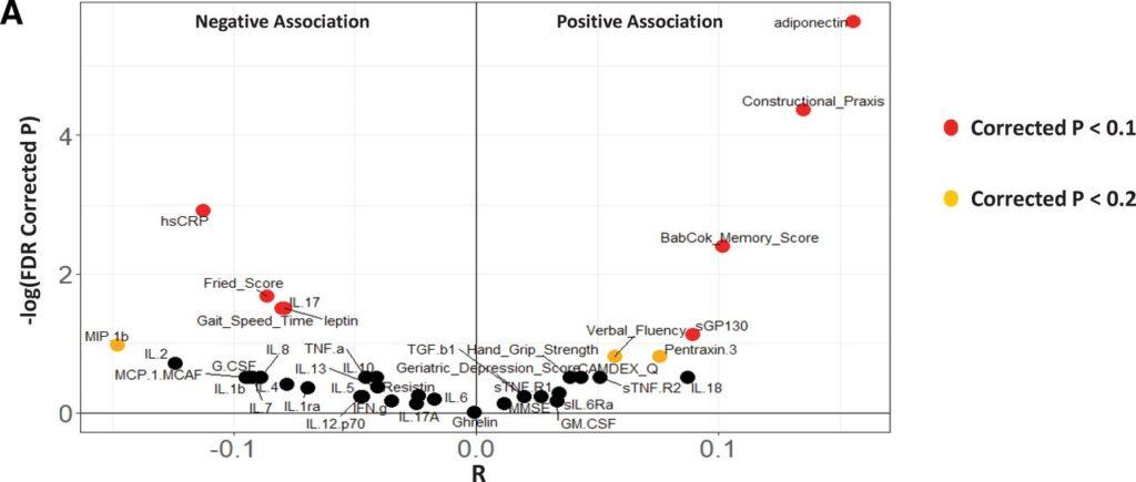 positive gut health correlations chart