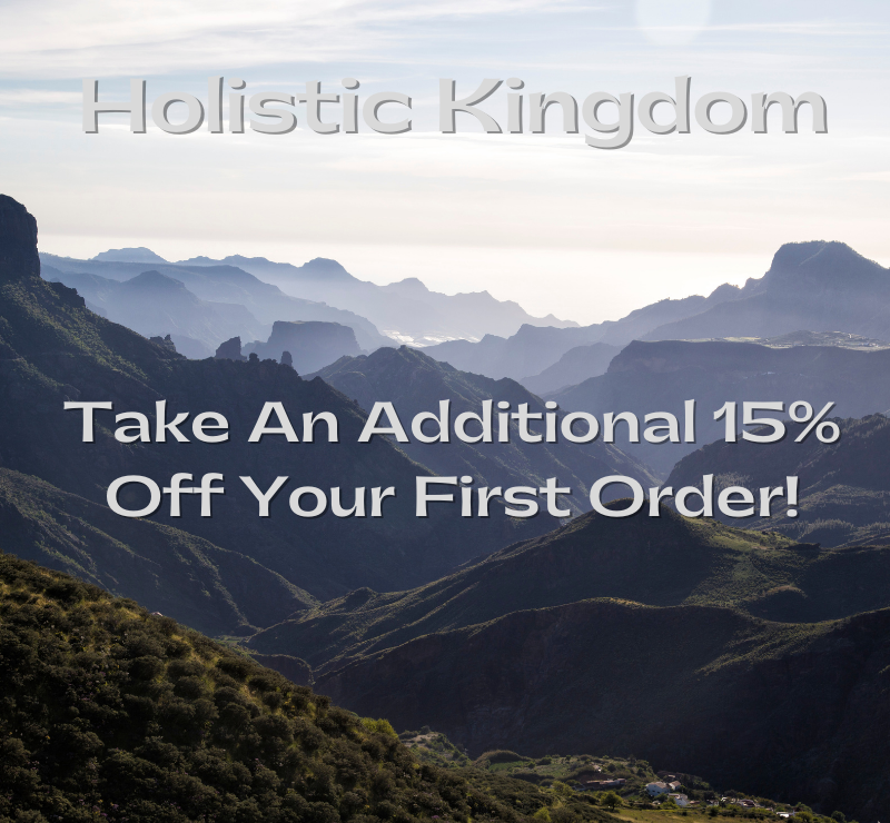 holistic kingdom discount code graphic for 15OFF
