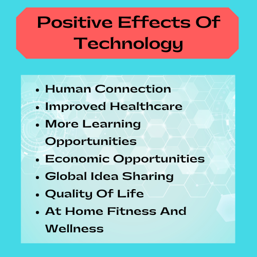 positive effects of technology graphic
